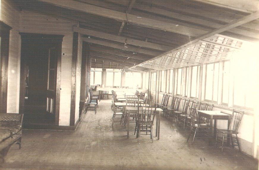 Inside the Wandawega Club House screen porch