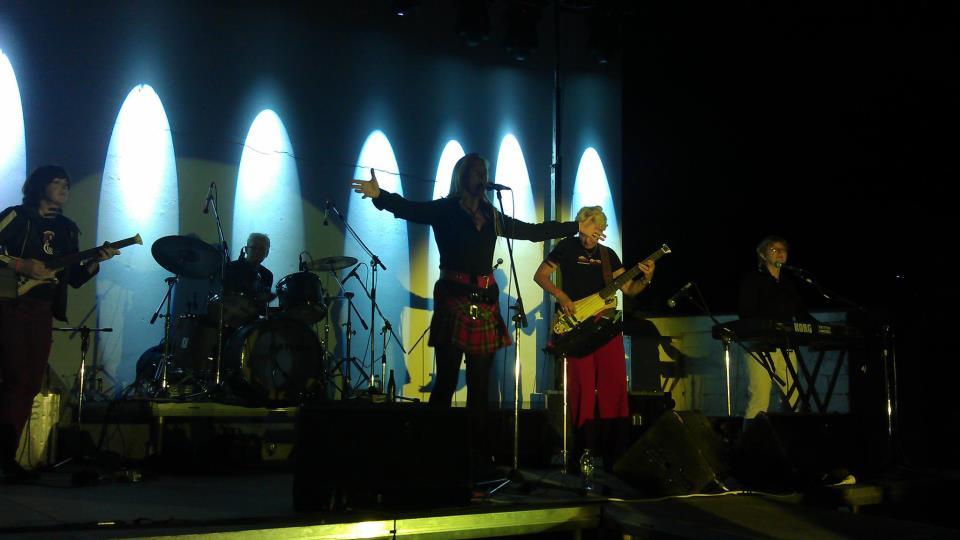 Electric Landladies performing at Skala Eressos, Lesvos, Greece