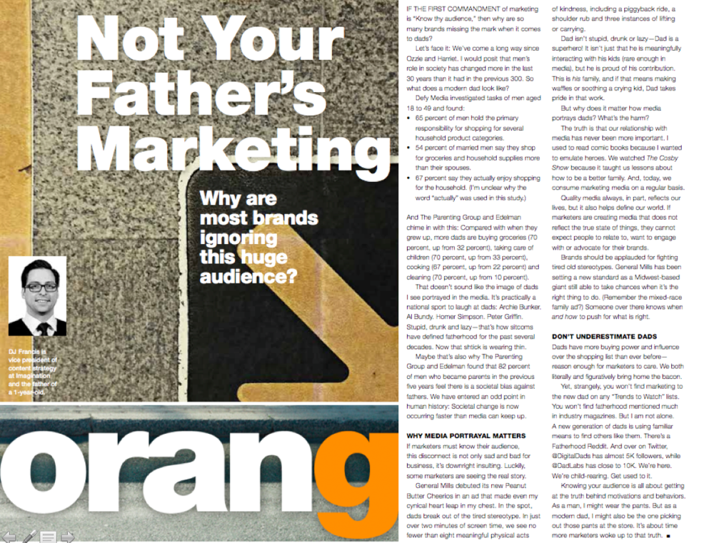 Marketing to Fathers - DJ Francis