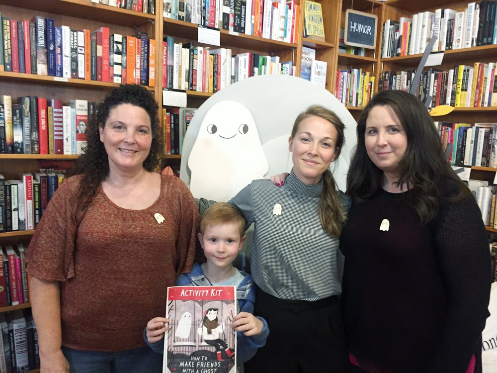 My mom, sister and little nephew at the book party! Not pictured were my nieces!