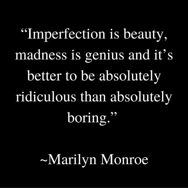 Thought it was time for another quote. I just like them. And I sorta love Marilyn Monroe maybe it's because she played a character named Lorelei in how to marry a millionaire.  #marilynmonroe #beyourownbeautiful #bekind