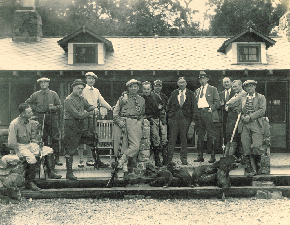 These distinguished gents were photographed at Southeast Georgia's Cabin Bluff. To this day the lodge still offers some of the finest sporting opportunities and accommodations on the entire East Coast.