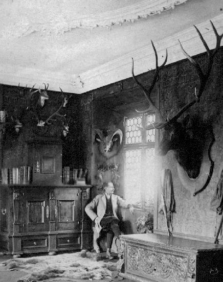 Author William Adolf Baillie Grohman in his Austrian home, circa 1880.