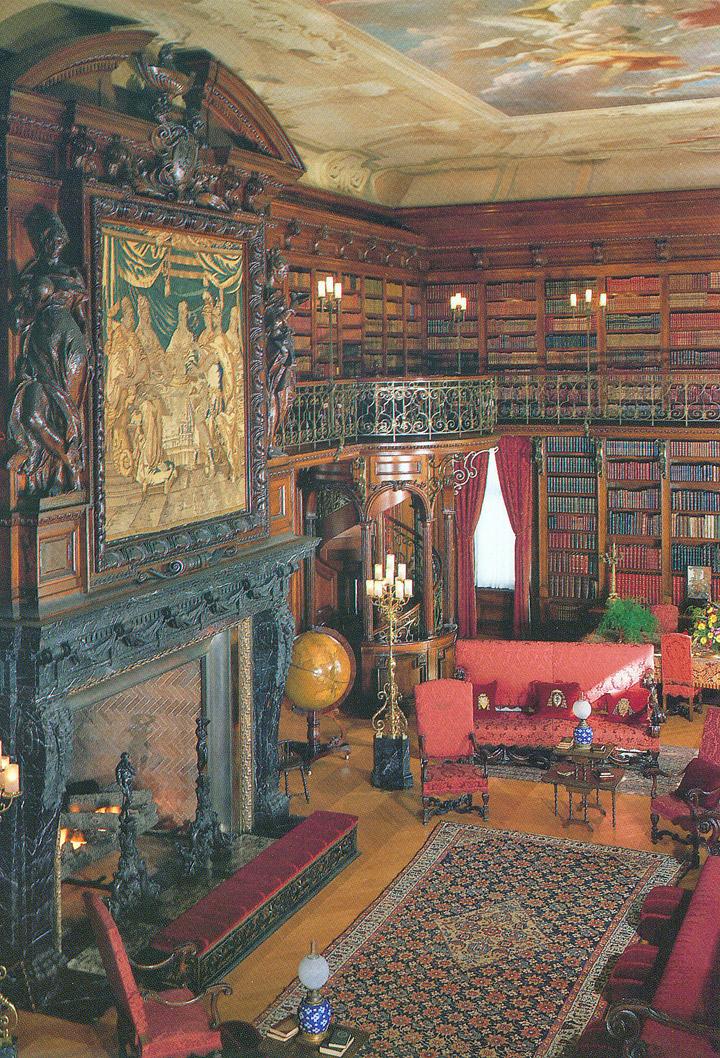 The library at the Biltmore Estate, a North Carolina national historic landmark.