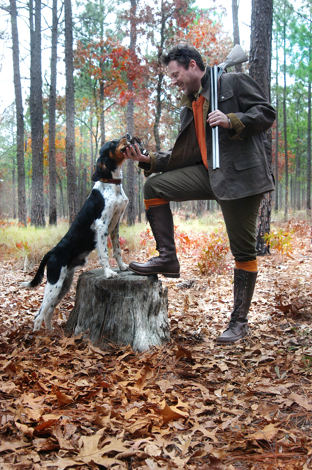 Here I am with Handsome Dutch and my Russell Gentleman Birdshooters