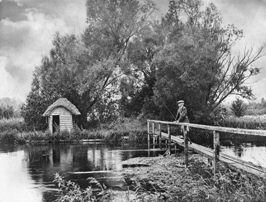 A Hut on the Leckford Water on the River Test Plate VIII