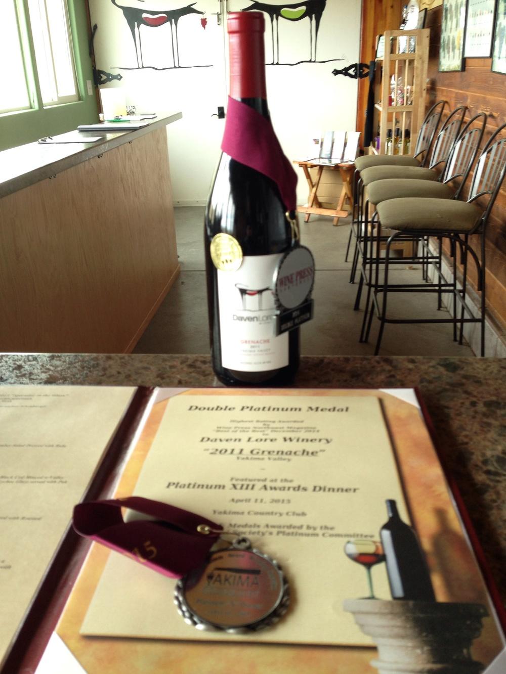 Grenache 2011 Yakima Valley Lonesome springs Ranch vineyard designate.