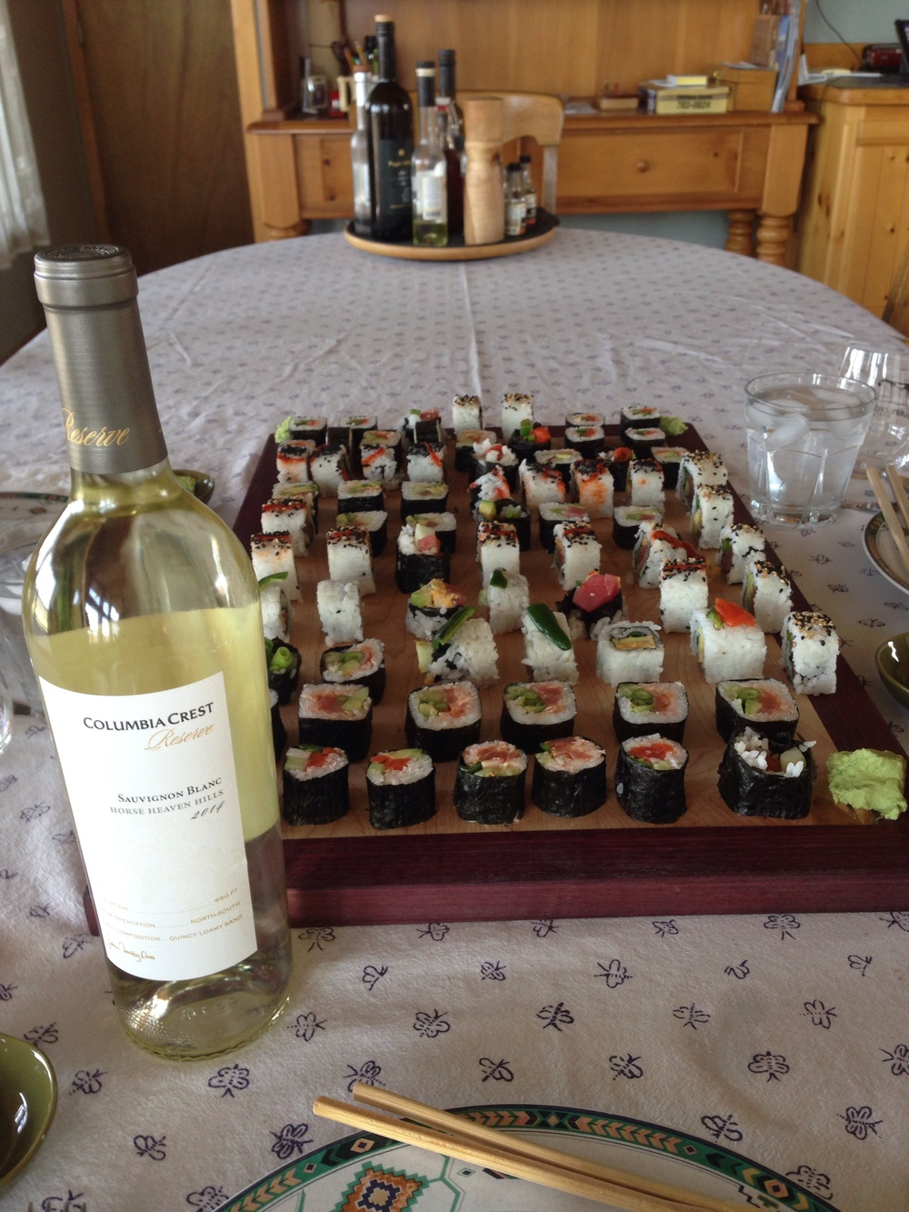 The reserve Sauvignon Blanc was a great choice for lunch.