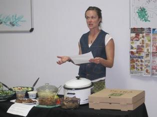 Mallia demonstrating a fantastic recipe! Malia will be sharing another recipe tonight,