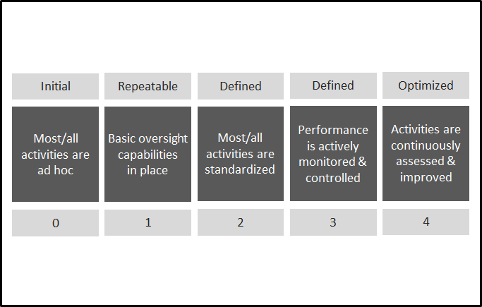 A general maturity model for assessing progress in a more qualitative manner.