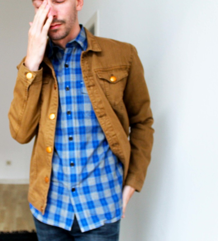 drowsy day.  shirt: Stapleford, jacket: Acne, jeans: Levi's