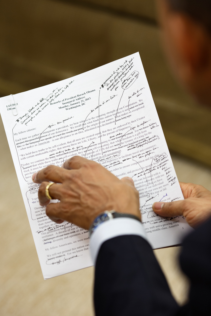President Obama's Copyedits - via Flickr
