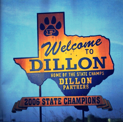 Dillon, Texas Sign | Friday Night Lights