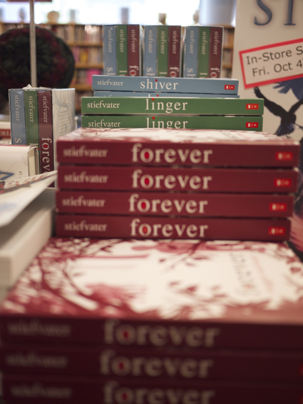 Shiver/Linger/Forever at University Bookstore