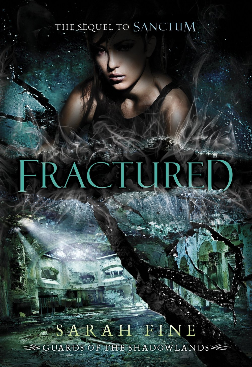 Fractured by Sarah Fine on Clear Eyes, Full Shelves