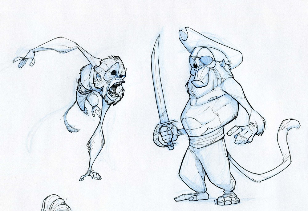 "Concept art for ""Here We Go"" - Pirate Monkeys"