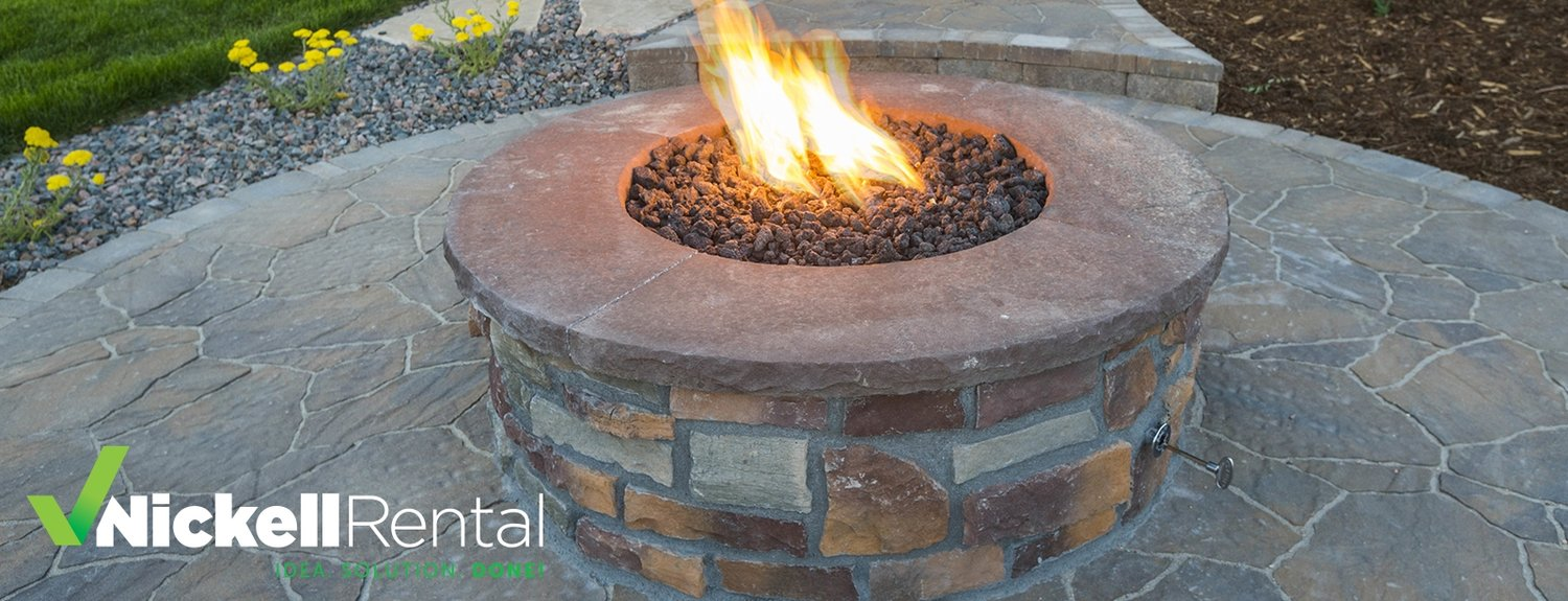 Diy Backyard Fire Pit Project Nickell Rental Tool And