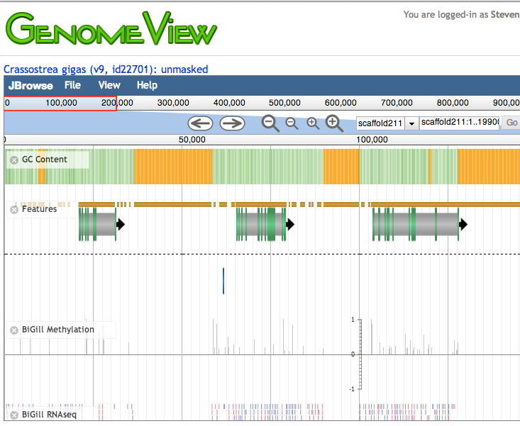 CoGe Genome Browser
