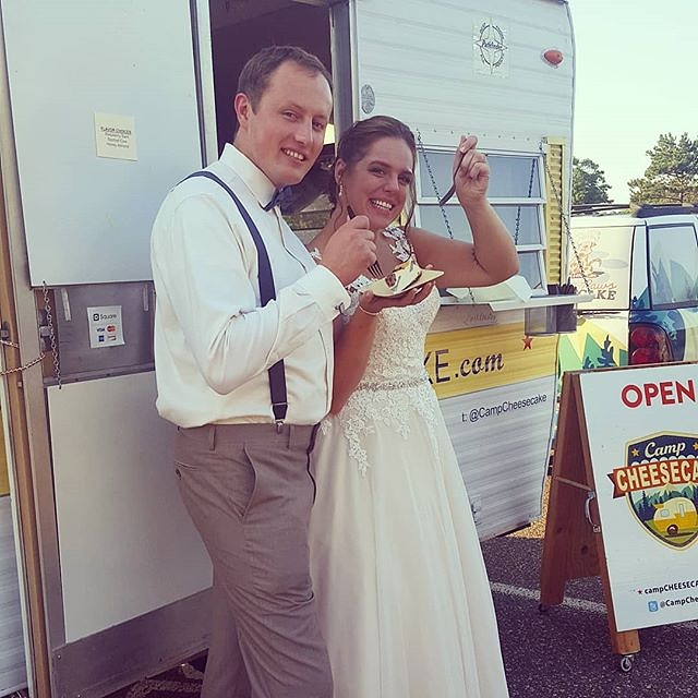 We will bring Camp Cheesecake to your wedding! Guests have so much fun with it and it saves space and clean up! Great for outdoor weddings. We operate April thru October! Pricing varies for wedding. We can accomodate any budget!