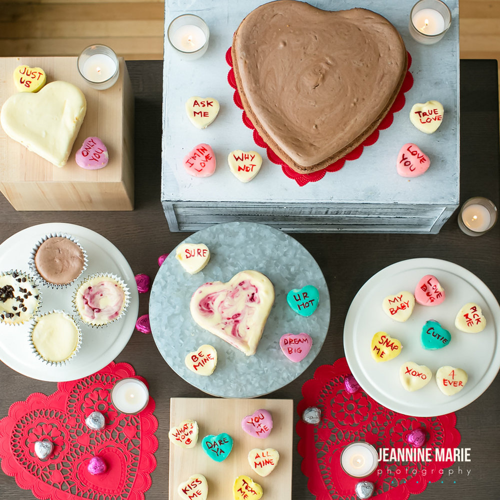 Our Valentines Cheesecakes! Photo by:  https://www.jeanninemarie.com