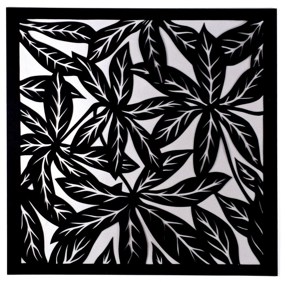 Leaves I:Silver background.jpg