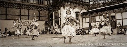 Bhutan Masked Dancers © Paul A. Teolis