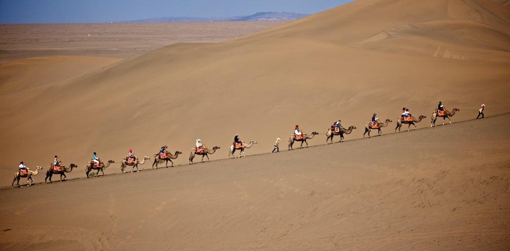 Desert, Dunhuang, Gansu, People's Republic of China