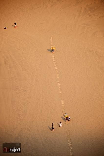 sand dune tobaggoning