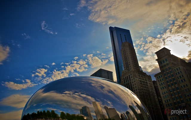 Cloud Gate, Millenium Park, Chicago, Illinois, USA