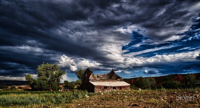 Abandoned house near Big Horn National Park, Wyoming, USA