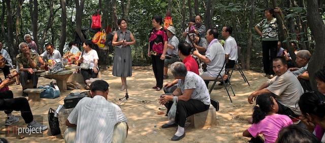 Opera singers, Lishan, Xian, China