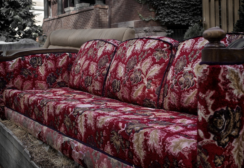 Abandoned couch. Toronto