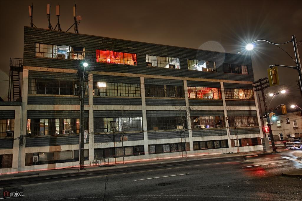 Junction, Toronto, ON, Canada, night scene