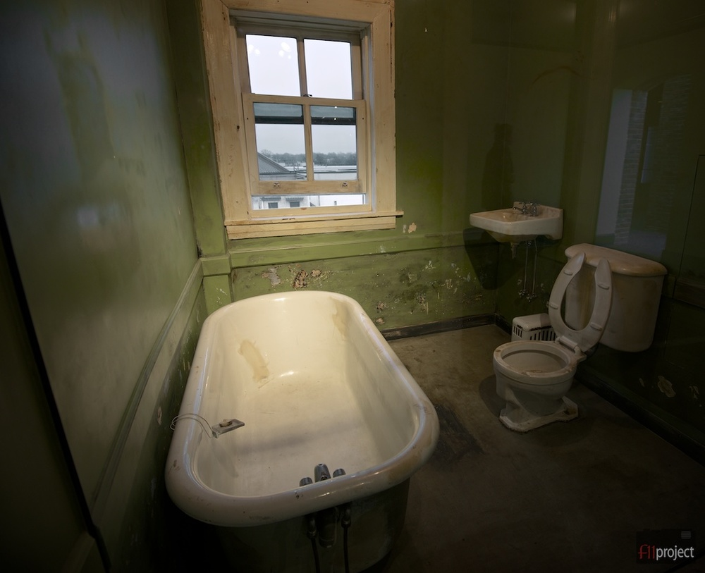James Earl Ray was alleged to have fired the fatal shot from this second floor bathroom window in the boarding house across the street from Lorraine Motel.