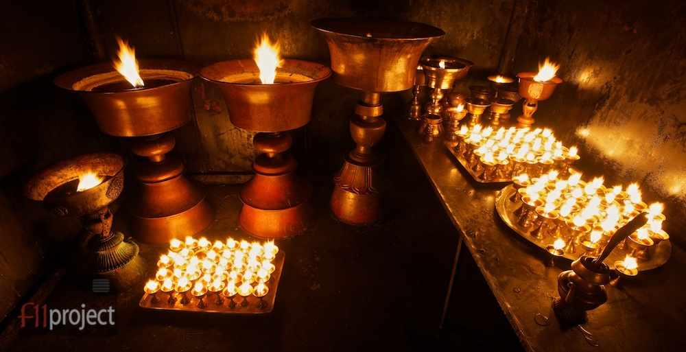 Butter lamps
