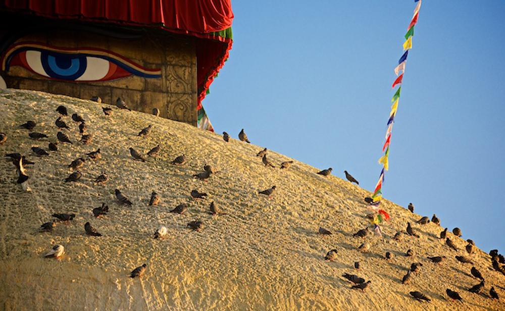 Stupa at Boudhanath, Kathmandu, Nepal.   Copyright © Louis Au 2014