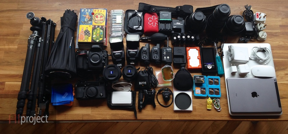 Packing up a few camera gear for the trip