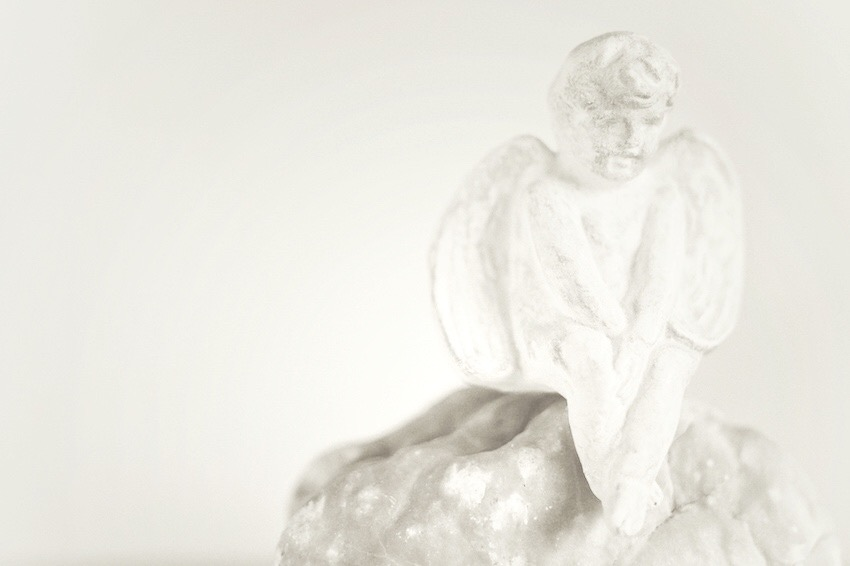 Angel on the rock