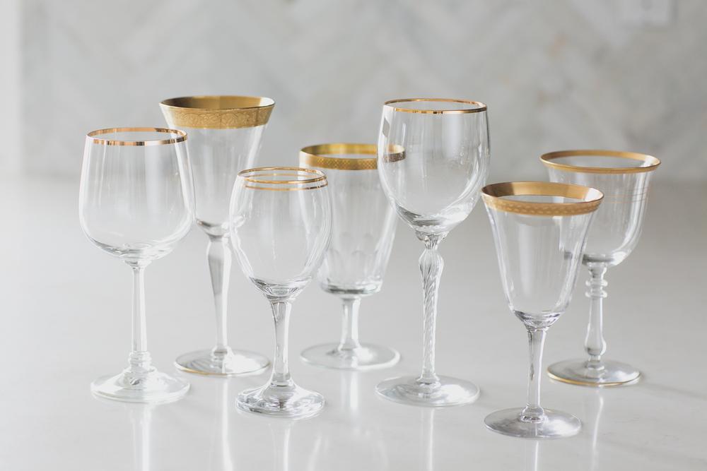 Gold Rim Goblet