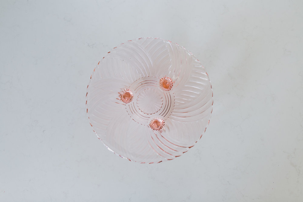 PINK GLASS CANDY BOWL