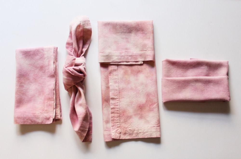 Hand Dyed Rose Napkins .jpg