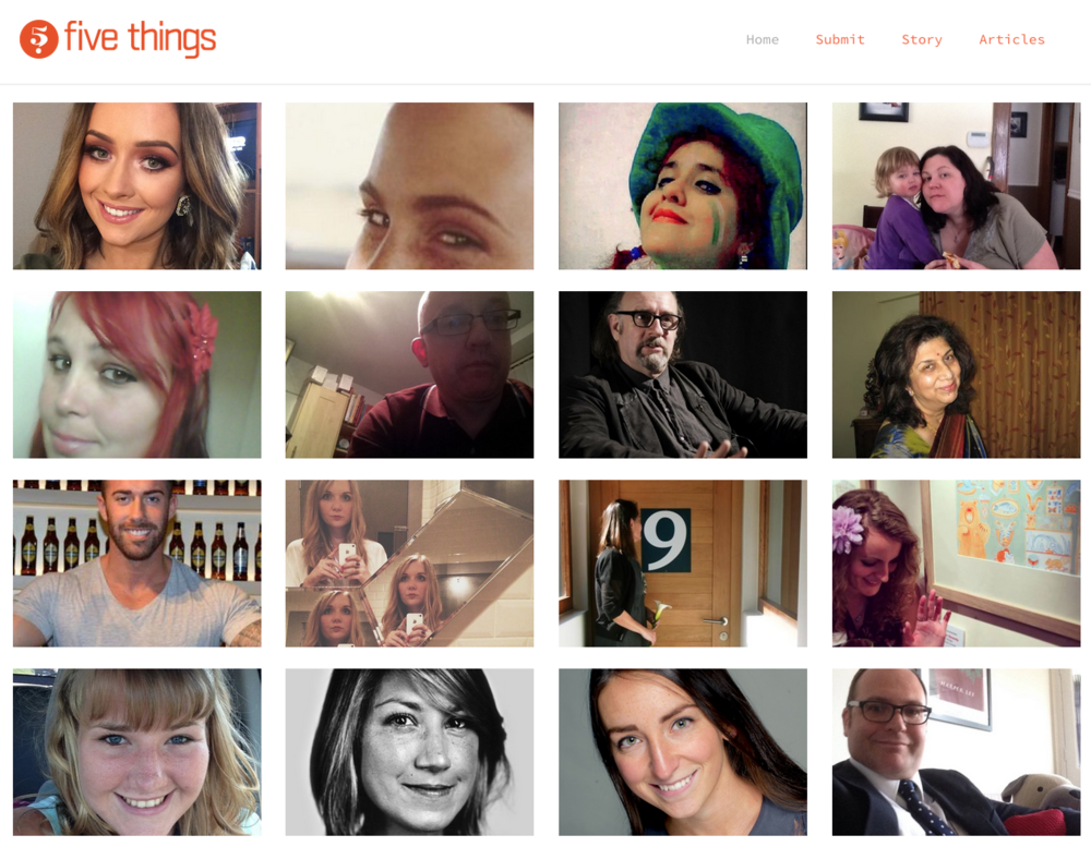 Website designed and managed for Five Things, a site that collates interesting stories about humans around the world.