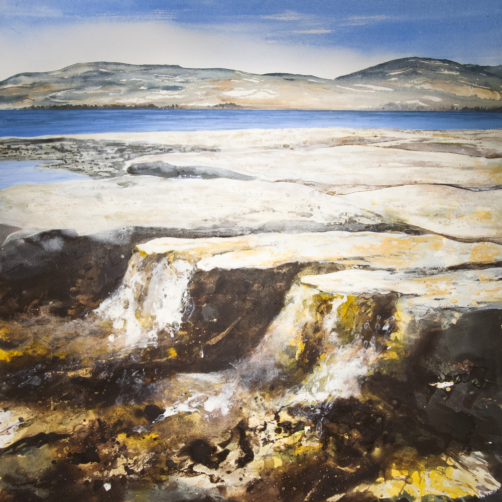 Kiltern Beach 1 Oil and acrylic on canvas 39 x 39 in. (100 x 100 cm) GCM0001 ENQUIRE ABOUT THIS WORK