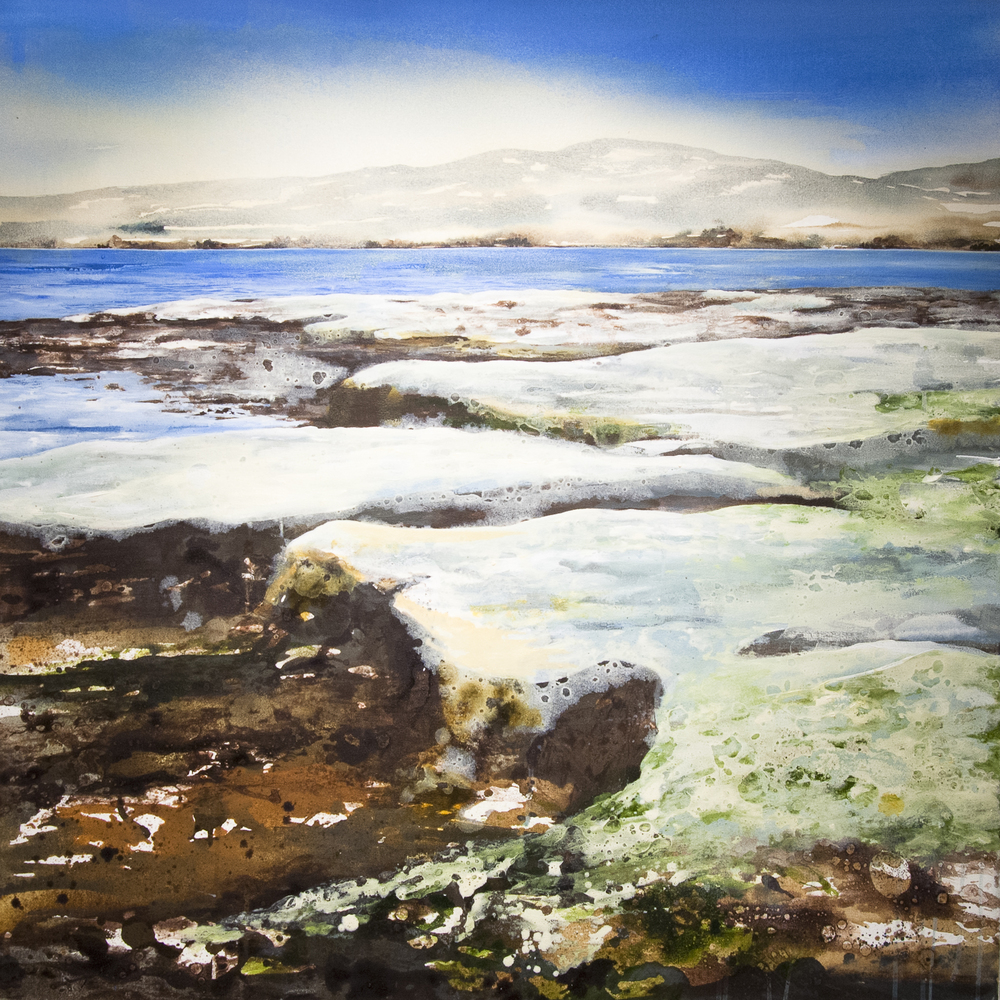 Kiltern Beach 2 Oil and acrylic on canvas 39 x 39 in. (100 x 100 cm) GCM0002 ENQUIRE ABOUT THIS WORK