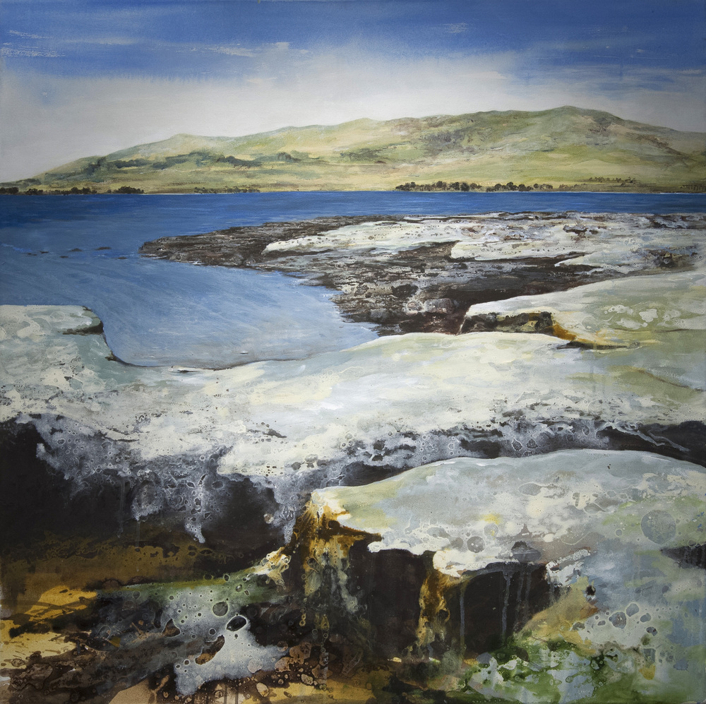 Cromaty Firth Oil and acrylic on canvas 39 x 39 in. (100 x 100 cm) GCM0006 ENQUIRE ABOUT THIS WORK