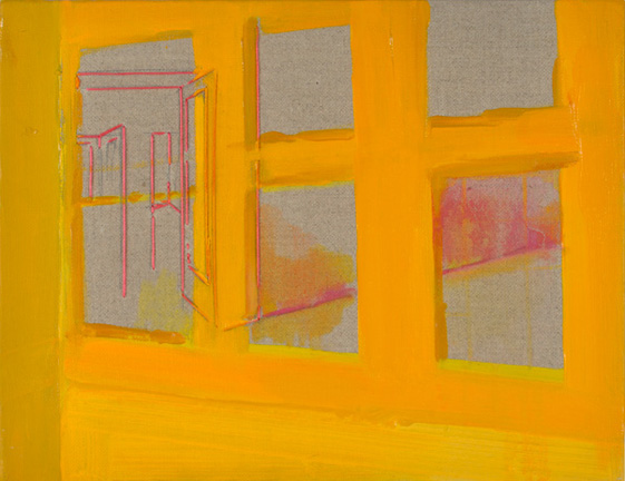 Yellow Front 2012 Oil on linen 13.7 x 10.7 in. (35 x 27 cm) RBY0002  ENQUIRE ABOUT THIS WORK