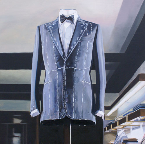 Savile Row IX 2011 Oil on board (Framed) 7.8 x 7.8 in. (20 x 20 cm) OWH0001
