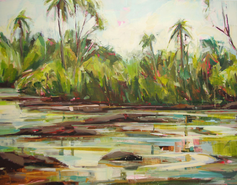 Pools at Iguassu Oil on canvas 47.2 x 39.4 in. (120 x 100 cm) KHA0006 ENQUIRE ABOUT THIS WORK