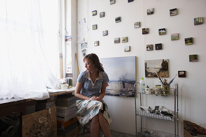 Freya Douglas-Morris at her studio in London. Photo: Sam Peach and Tora Davidson for The Guardian