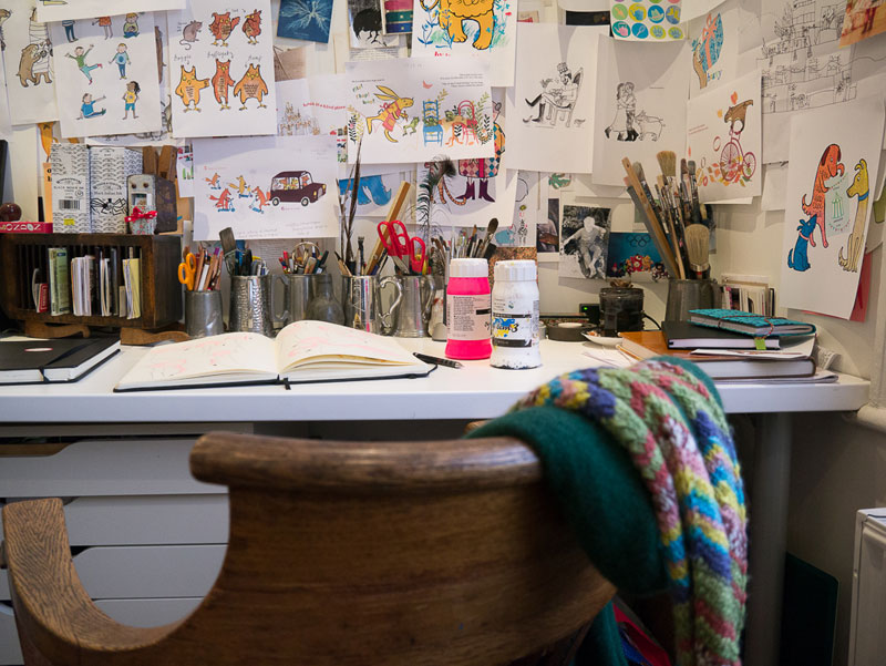 Illustrator Jane Porter studio space